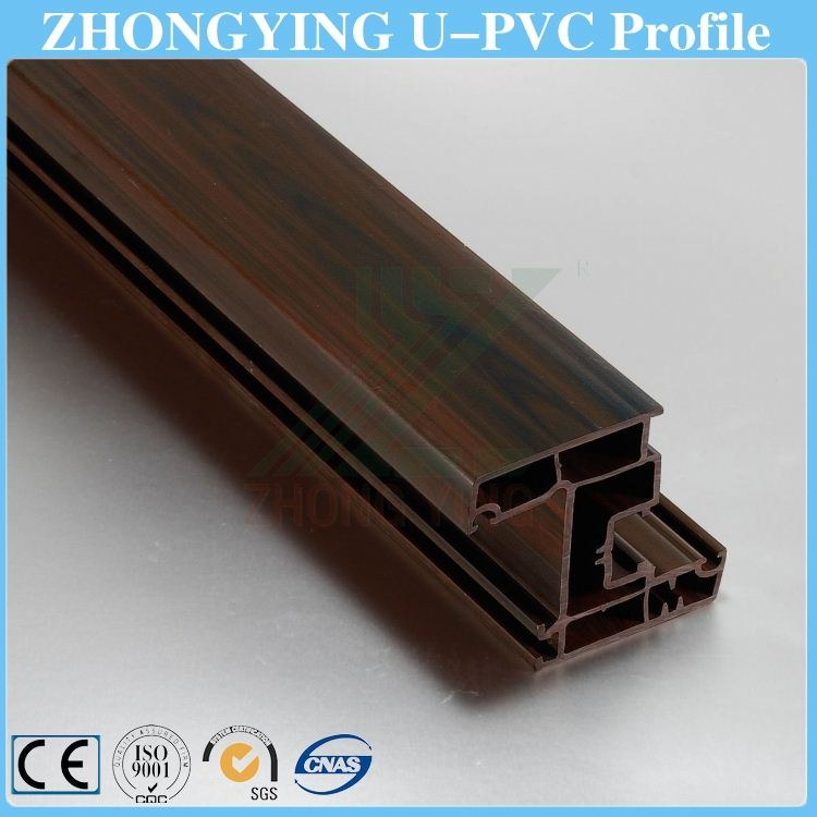 4 kinds of wooden color upvc window and door profile extrusion