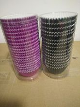 colorfull foil cupcake liners packed with pvc tube,wholesale laser cutting cupcake bases baking liners