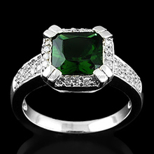 2015 wholesale latest design fashion 925 sterling silver men's emerald jewelry ring