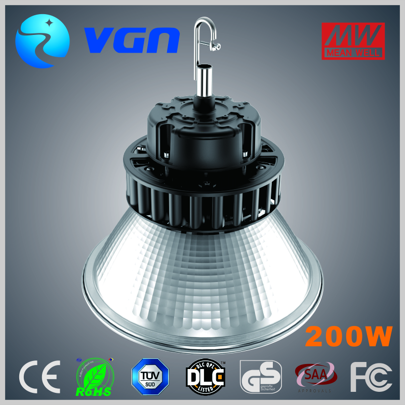 Aluminum casing waterproof cob 210w industrial led high bay lighting