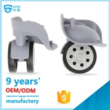 New model swivel universal trolley handle wheels for luggage parts