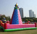 HOLA pink inflatable climbing wall/inflatable rock climbing wall
