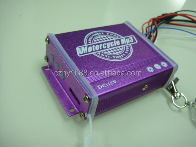 Anti-Theft Motorcycle Amplifier with MP3 Audio
