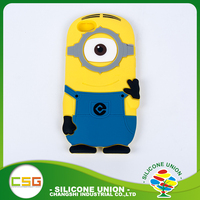 High grade cartoon cute non-stick custom silicone 5 inch mobile phone case