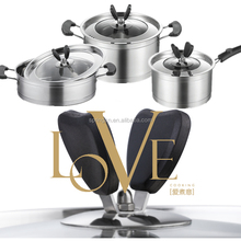 6pcs multifunctional set of stainless cookware