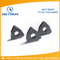 Tungsten carbide cnc cutting tool insert with PVD coating
