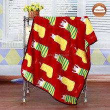 home textile 100% polyester supper soft printed fleece blanket for baby