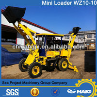 Backhoe Loader WZ10-10/ wheeled mini Backhoe Loader for sale