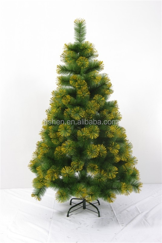 6ft led cone golden powder christmas tree charming pine needle christmas tree