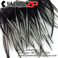CHINAZP Wholesale Natural White Laced Pointy Rooster Cape Feathers