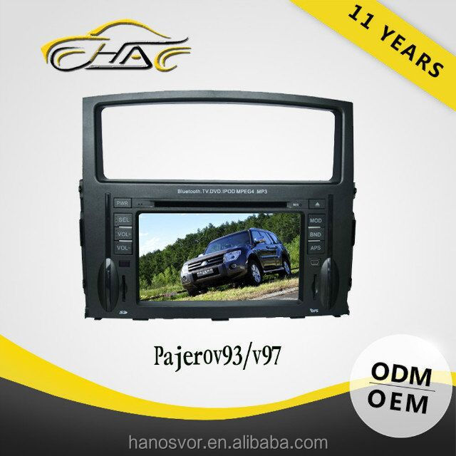 double din radio tv tuner gps navigation car entertainment system for mitsubishi pajero