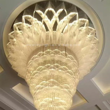 Modern Saudi Arabia Flower Bud Shape Crystal Circle Pendant Light