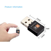 Mini Dual Band Wireless Adapter AC 600Mbps USB WiFi Dongle 2.4G And 5G Network Card for PC Desktop Laptop Tablet
