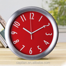 red led billiard ball copper stainless steel wall clock children