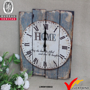 HOME decorative old fashion beautiful vintage wooden wall art clock