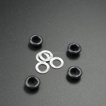 Small black color metal eyelet curtain ring for boot