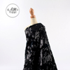 Fancy design net knit embroidery black 5mm hanging flip african styles velvet sequins lace fabric