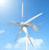 HYE 1.5KW 5 blade wind turbine system wind mill generator power