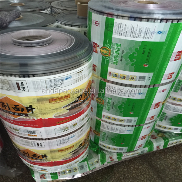 Dried noodle plastic packaging film/Custom printed Instand noodle packaging