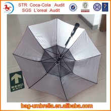 Innovative Fan Umbrella Silver Coated UV Protection Advertising Umbrella With Fan