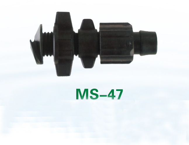 16mm diameter under-cut bypass black plastic water line pipe fittings MS-47