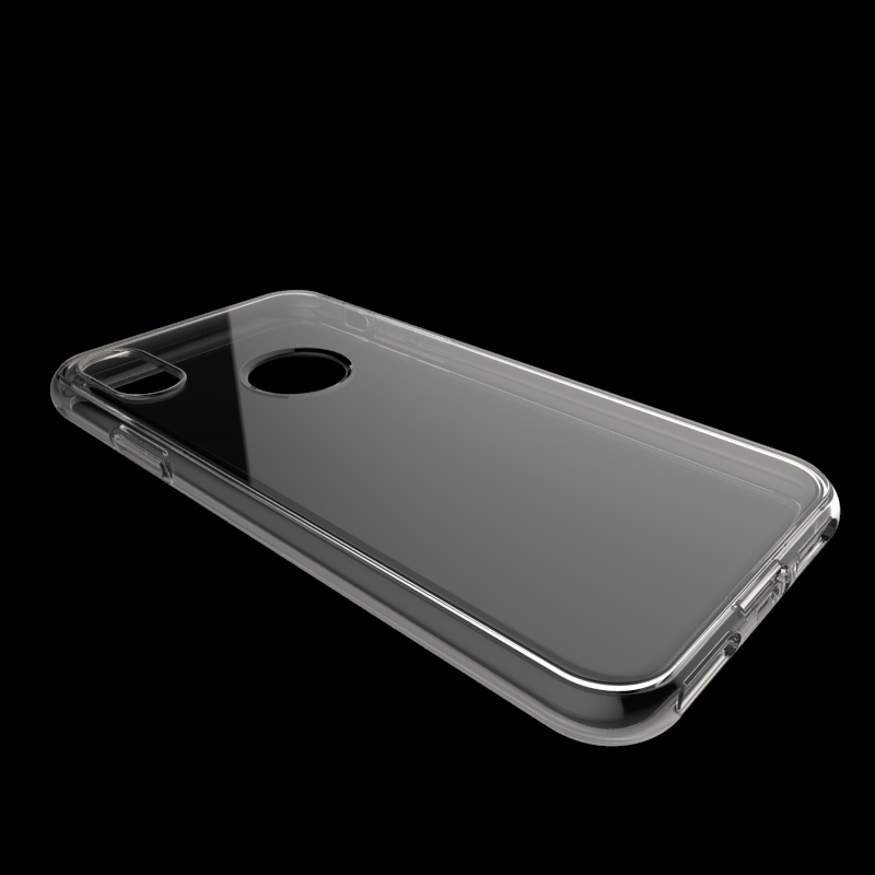 clear Transparent no joint line tpu case For Iphone X soft cover