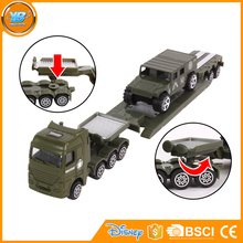 Yibao kids 4 styles military diecast pull back toys metal car pull back toy tank