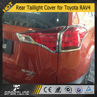 JC Auto Parts Car Accessories ABS Newest ABS Chrome Rear Taillight Cover For Toyota RAV4 2013 2014 2015