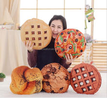 3D Creative Plush Bread Steak Pizza Hamburger Shape Pillow Cushion