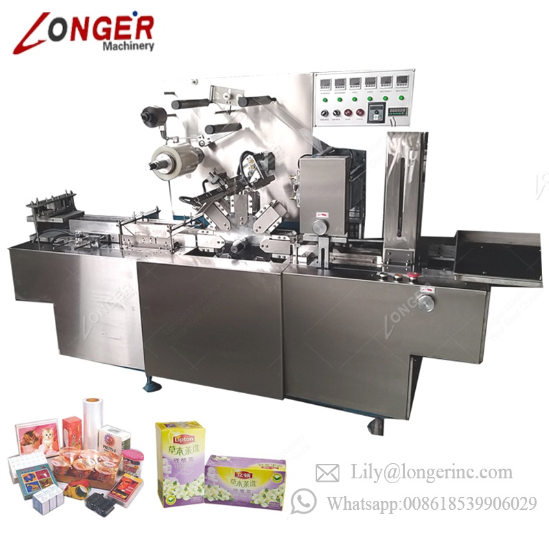 Carton Chocolate Soap Wrapper CD Packaging Tea Box Packing Production Perfume Box Overwrapping Small Cellophane Wrapping Machine