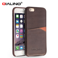 QIALINO Good-Looking Handmade Leather For Iphone 6S Pink Case