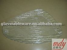 clear tempered glass dinner plate