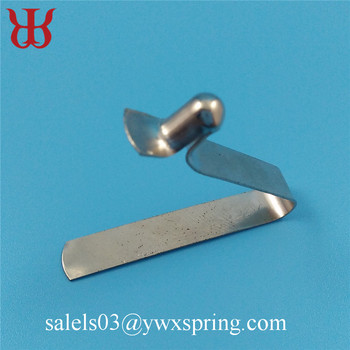 push type zinc plated steel button spring