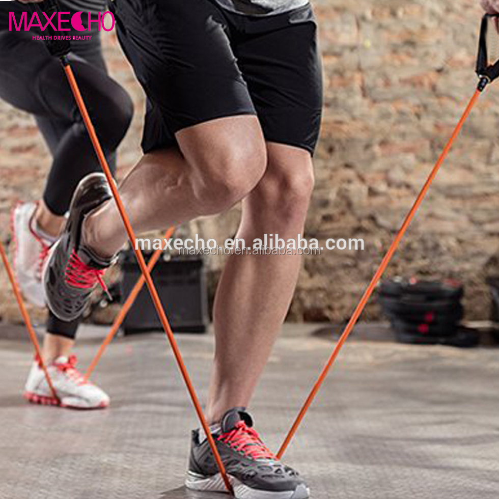 MAXECHO Resistance Band, Exercise Tube - <strong>Fitness</strong> With Door Anchor and Manual