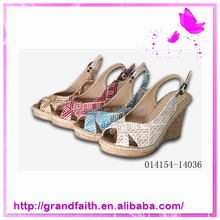 2014 Wholesale Women Latest Summer Lady Wedge Heels Sandals 2014