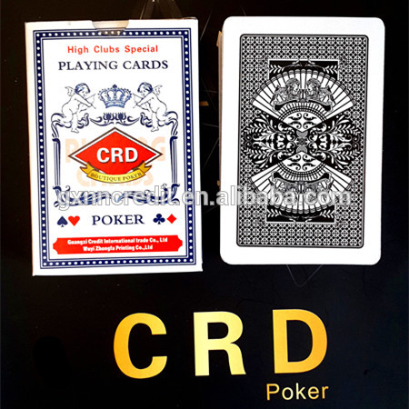 chinese cheap two-deck playing cards sets in durable paper box with good printing/logo