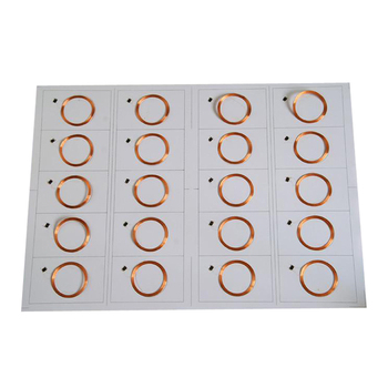 ISO14443A 0.4mm 0.45mm 0.5mm A4 Smart NFC RFID Card Dry Inlay Prelam