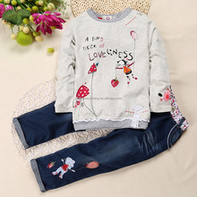 Autumn Lovely Girls Formal Suit Combination Tops and Jeans Suit