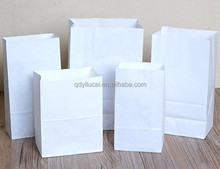 White kraft paper bags for food