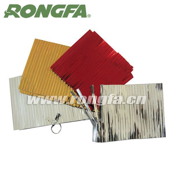 high quality red gang metallic colored vegetable printing twist ties