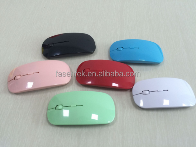 Colorful Flat Wireless Computer Mouse Thinest Wireless Mouse