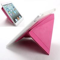 New transformer leather case for ipad mini accept small quantity order