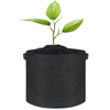 5-Pack 5 Gallon Grow Bags/Aeration Fabric Pots w/Handles (Black)