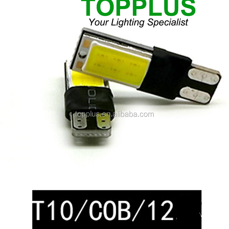 T10 W5W COB led car bulb ,high power 12V t10 led light