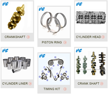 Engine forging crankshaft Piston Ring cylinder heads Cylinder liner kit Engine Timing chain kit
