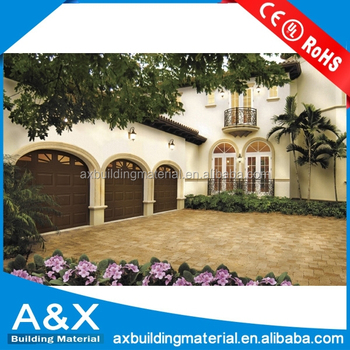 Automatic lift solid wood garage door