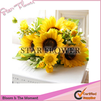 Wholesale SF2017036 Artificial Sunflower Outdoor Artificial