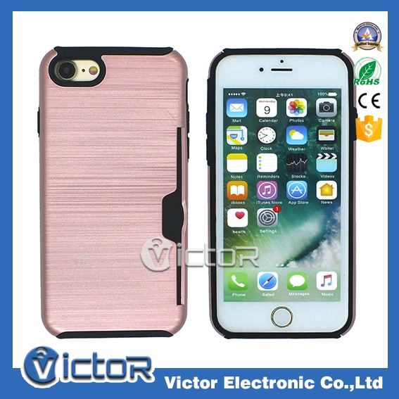 2017 trending phone accessories manufacturing for iphone 7 back cover card holder case