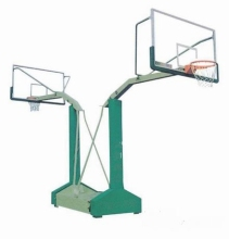 petrel type double backboard basketball stand system