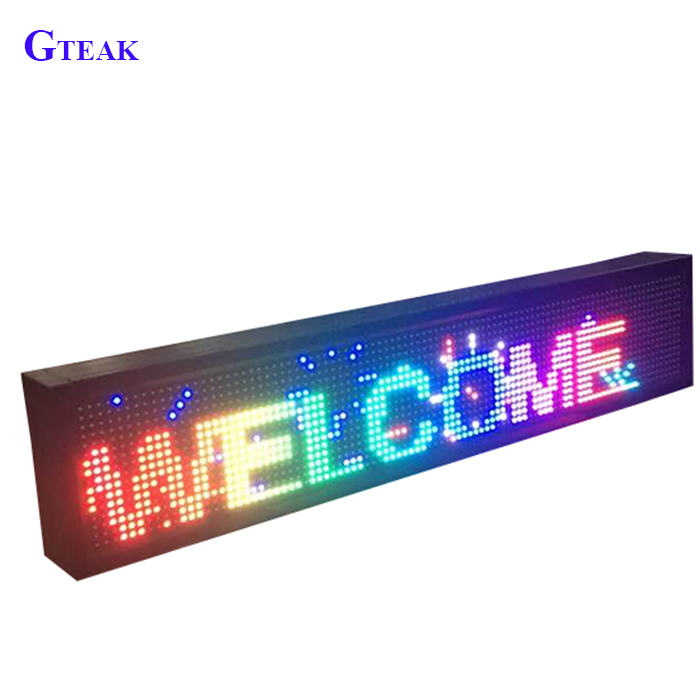 P10 indoor full color RGB led message sign scrolling display aluminum alloy